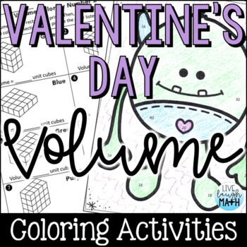 Valentine's Day Math: Volume Color by Number
