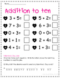Valentine's Day Joke Math Worksheet