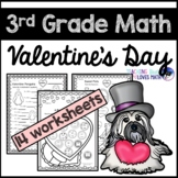 Valentine's Day Math Worksheets 3rd Grade Common Core