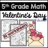 Valentine's Day Math Worksheets 5th Grade Common Core