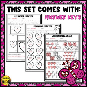 Valentine's Day Math Worksheets Grade 5