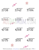 Valentine's Day Math Worksheets - Long Division No Remainders 2 Digit Answers