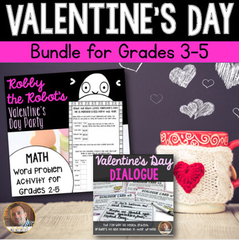 Valentine's Day Math and ELA Bundle- 7 Activities for Grades 3-5