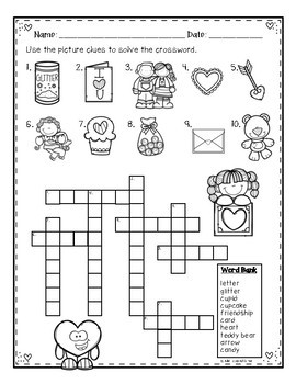 Valentine's Day Math and Language Worksheets