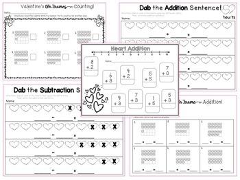 Valentine's Day Math and Literacy Activities {Kindergarten}