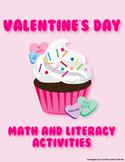 Valentine's Day Math and Literacy Activities Supreme Bundle