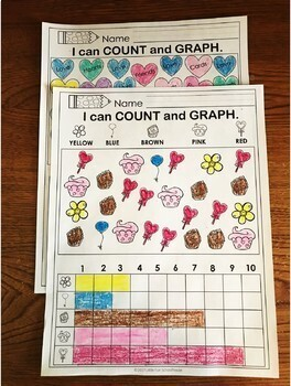 Valentine's Day Math and Literacy Printable Activities for 1st or 2nd Grade