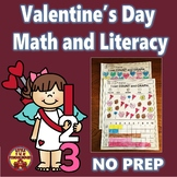 Valentine's Day Math and Literacy Printable Activities for