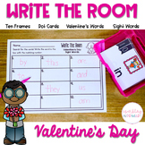 Valentine's Day Math and Literacy Centers Activities - Write the Room