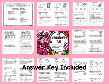 Valentine's Day Math and Literacy Fun