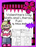 Valentine's Day Math and Literacy No Prep Packet