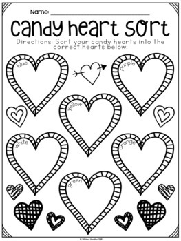 Valentine's Day Math and Literacy Printables and Activities
