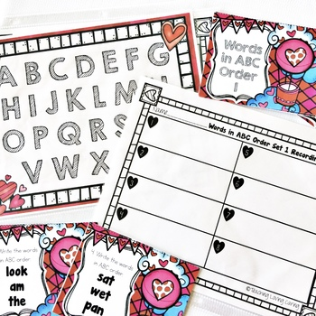 Valentine's Day Math and Literacy Task Card Centers BUNDLE