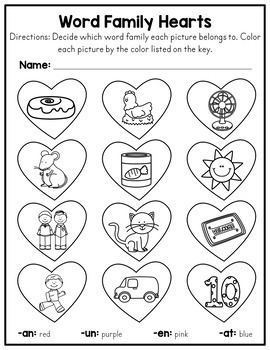 Valentine's Day No Prep Worksheets