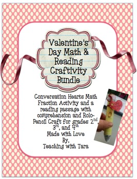 Valentine's Day Math and Reading Craftivity Bundle!