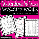 Valentine's Day Math Activity and Word Work Mystery Activity