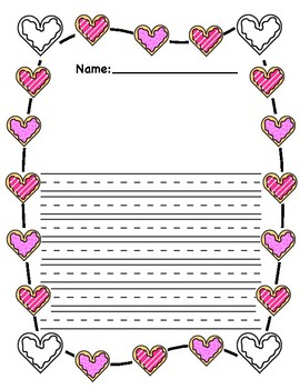 Valentine's Day Cookie Theme Math and Writing Activities!