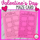 Valentine's Day Maze Card for Students