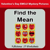 Mean (Average) - Color-By-Number Valentine's Math Mystery Pictures