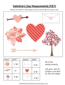 Valentine's Day Measurement and Line Plot NO PREP