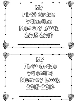Valentine's Day Memory Book