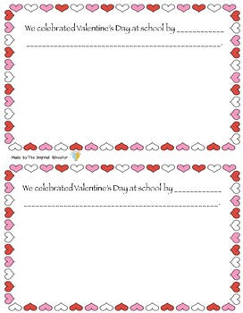 Valentine's Day Memory Book
