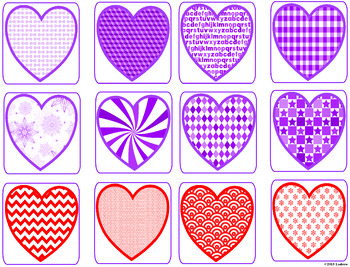 Valentine's Day Centers Activities Valentine Heart Memory Lotto Preschool