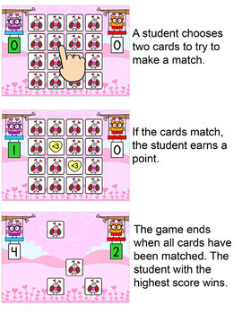 Valentine's Day Memory Matching Game - for Tablets & Interactive Whiteboards