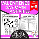 Valentine's Day Math Activities Middle School | Valentine'