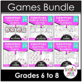 Valentine's Day Middle School Math Activities & Games BUNDLE
