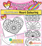 Valentine's Day Mindfulness Coloring Pages