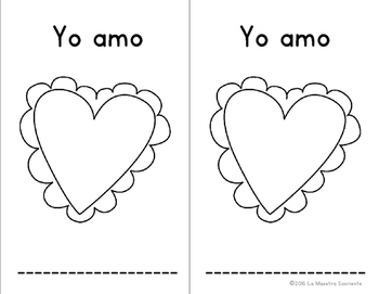 Valentine's Day Mini Book: I love... (Spanish and English)