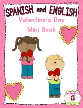 Valentine's Day Mini Book: I love... (Spanish and English)