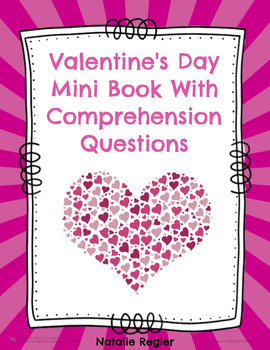 Valentine's Day Mini Book With Comprehension Questions