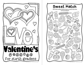 Valentine's Day Mini Book for Sixth Graders