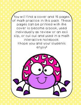 Valentine's Day Mini Math Practice Book