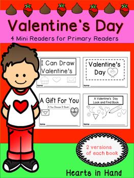 Valentine's Day Mini-Readers for Primary