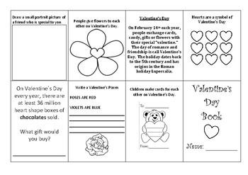 Valentine's Day Minibook