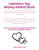 Valentine's Day Missing Addend Scoot