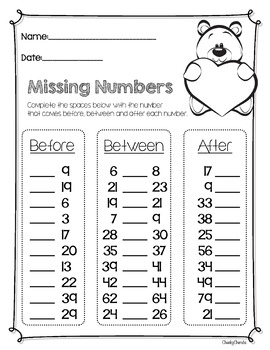 Valentine's Day - Missing Numbers