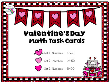 Valentine's Day Activities Missing Numbers