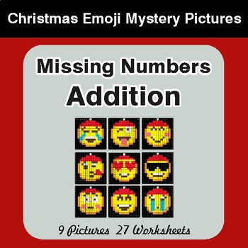 Missing Numbers: Addition - Color-By-Number Math Mystery Pictures