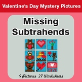 Missing Subtrahends - Color-By-Number Valentine's Math Mys