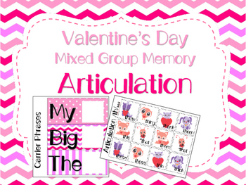 Valentine's Day Mixed Group Memory - Articulation 20% off for 48 hours