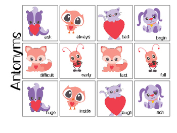 Valentine's Day Mixed Group Memory - Vocabulary 20% off for 48 hours!