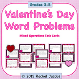 Valentine's Day Word Problems Task Cards