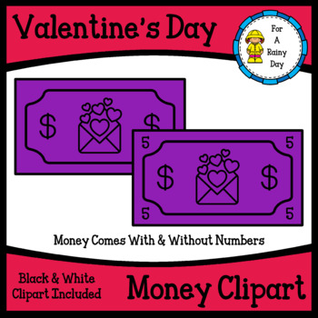 Valentine's Day Play Money Clipart