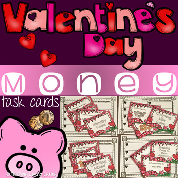 Valentine's Day Money Task Cards