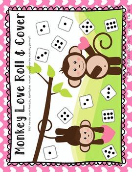 Valentine's Day Monkey Math