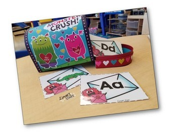 Valentine's Day Monster Love Letters Initial Sounds Matching